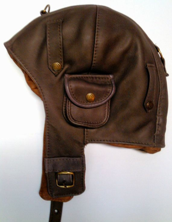 WWII Vintage style Handmade Genuine Leather Pilot by leatherhat: Amelia Earhart