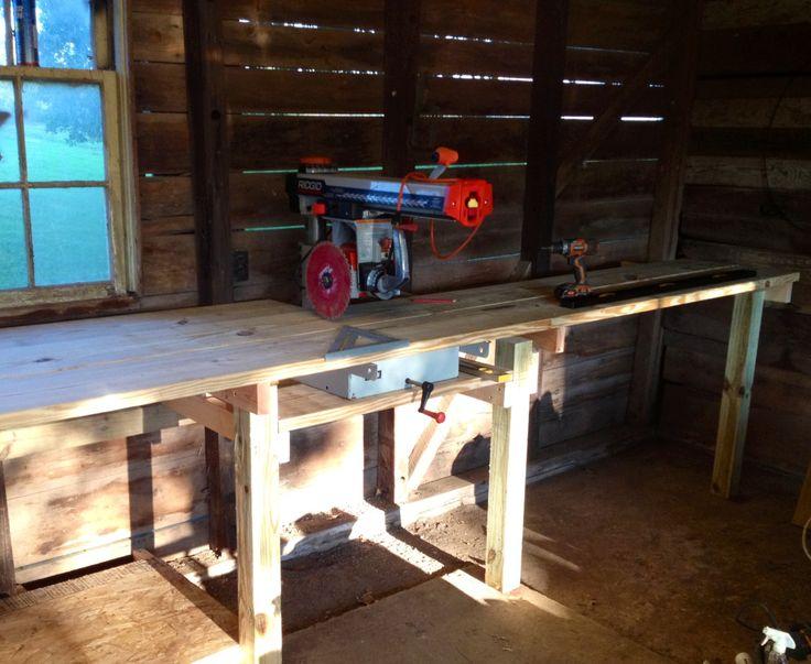 new yankee workshop radial arm saw. radial arm saw and work bench in progress new yankee workshop i