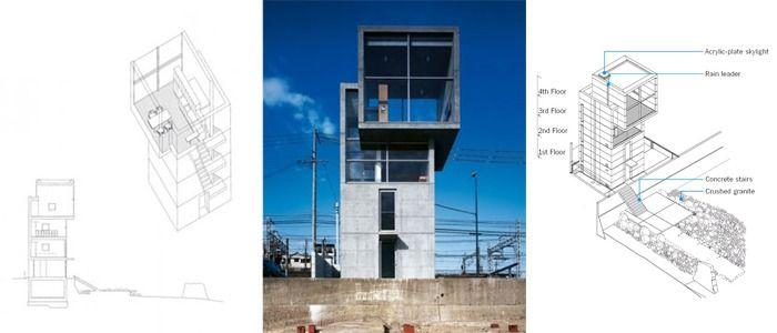 ТОП 10: лучшие работы Тадао Андо, Дом 4 × 4, Кобе, Хёго, Япония