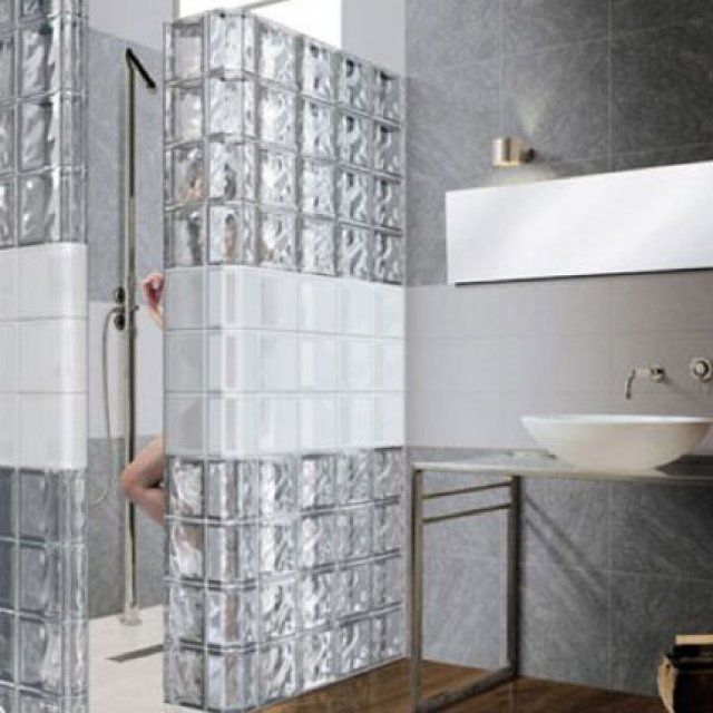 Best Brique De Verre Images On   Bricks Bathroom And