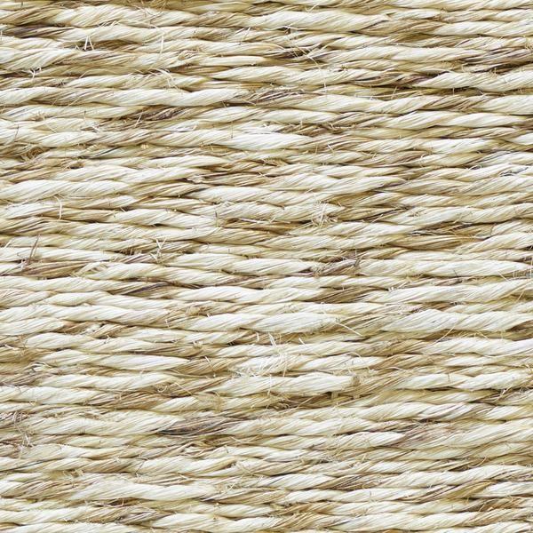 Reed Handwoven Abaca Rug In Coconut Colorway, By Merida.