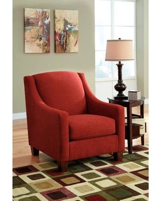 Ashley Maier Sienna Accent Chair by Ashley - Red from ColemanFurniture | BHG.com Shop