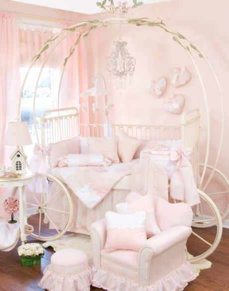 Soft pink bedroom.too much pink but lovely layout