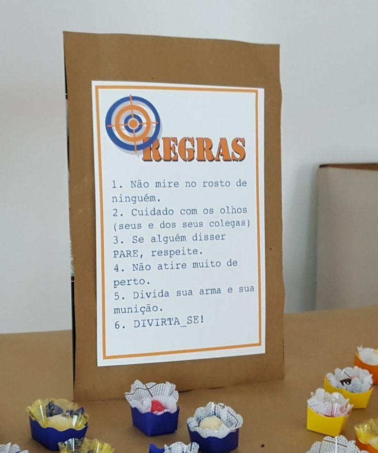 Ideias para fazer uma festa de aniversário com o tema Nerf: diy, alvos, brincadeiras e regras para a festa ser a maior diversão.