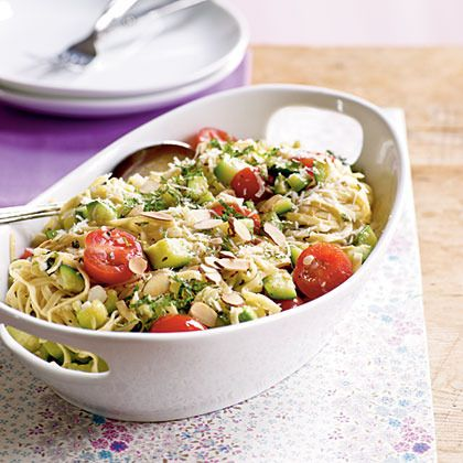 Pasta with Zucchini and Toasted Almonds by Cooking Light