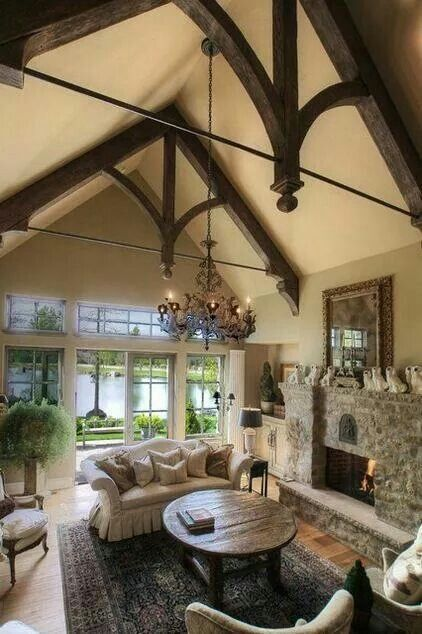 My next home won't be a 2 story. I will have tall ceilings like this