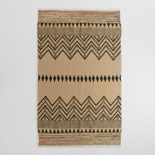 One of my favorite discoveries at WorldMarket.com: 5'x8' Woven Jute Satya Area Rug
