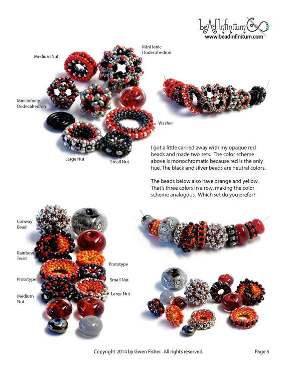 TUTORIAL Nuts and Washers: 4 Easy Beaded Beads Made by gwenbeads