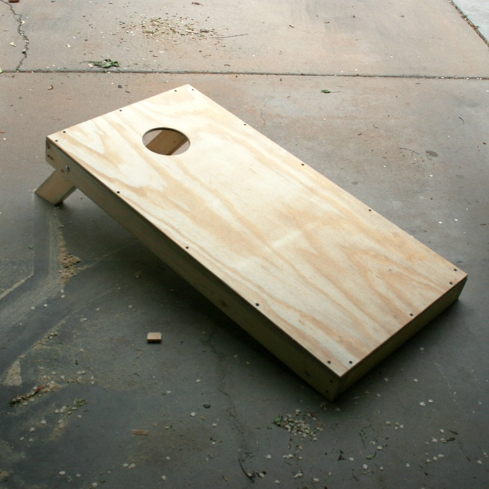How to Build your own cornhole set.  Great for fall festivals and carnivals.