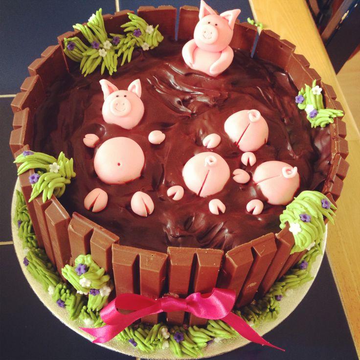 Pig Sty Chocolate Cake