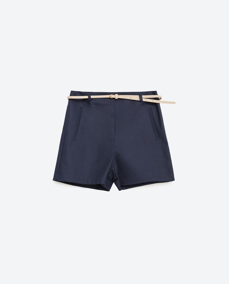 Image 8 of BERMUDA SHORTS WITH BELT from Zara