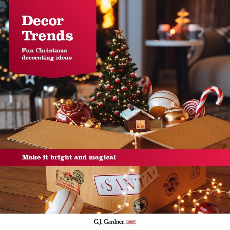 Decorate your Christmas tree with an abundance of decorations, lights and colours.
