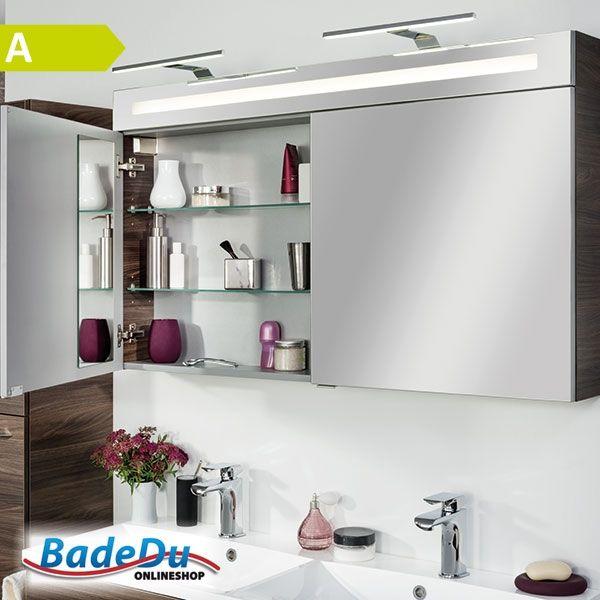 Wohin mit der Zahnbürste? Und dem Deodorant? Und der Tagescreme? In diesem 120cm breiten Spiegelschrank haben Sie genügend Stauraum! B.clever - 82997