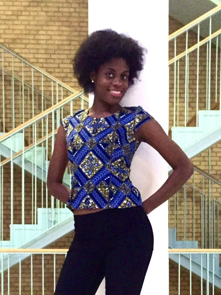 A personal favourite from my Etsy shop https://www.etsy.com/dk-en/listing/235887651/african-print-top-ankara-wax-fabric-100