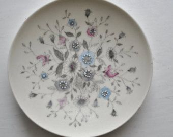 Arabia Fennica Esteri Tomula Small Floral Dish Hand Painted Signed