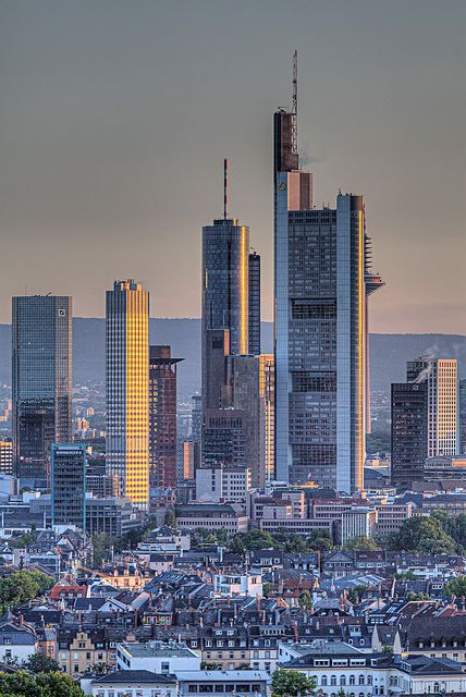 Downtown Frankfurt am Main, Germany