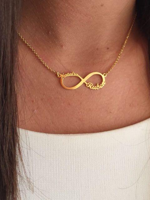 a8e314148041 Collar infinito Oro con nombres