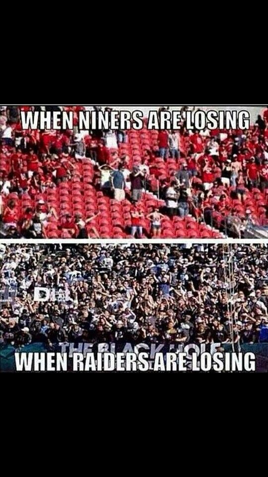 Hellll muthafuckinnn yeahh!!! Raider fans loyal to the silver ans black win or lose we stay proud♥♥