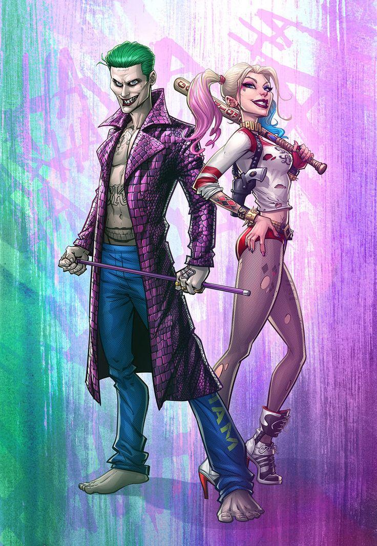 The Joker and Harley Quinn by PatrickBrown.deviantart.com on @DeviantArt