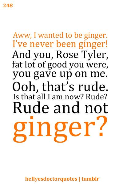 Although my heart will break and I will miss Matt Smith dearly, the twelfth doctor should indeed be a ginger.