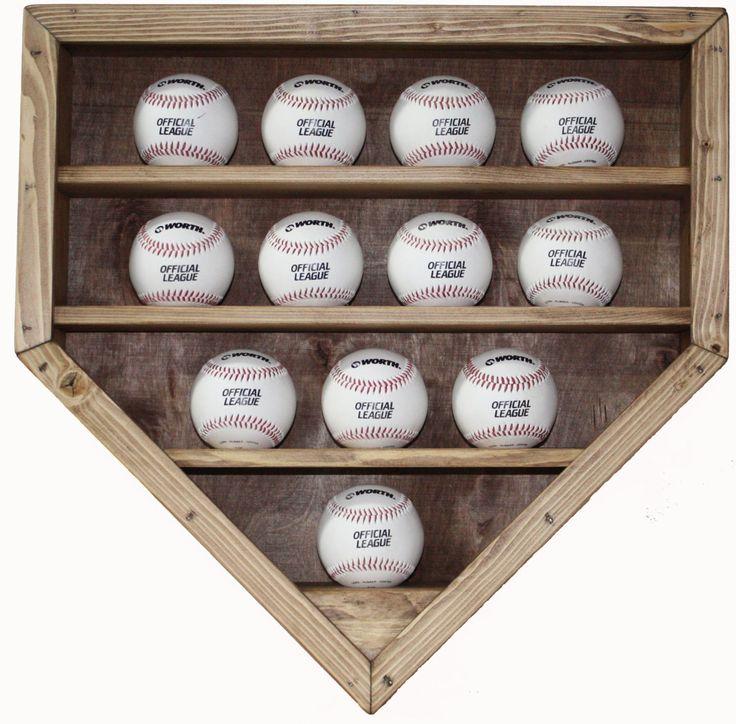 12 Baseball Display Case. via Etsy.