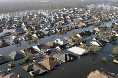 In 2005... the Lost City of New Orleans after Hurricane Katrina