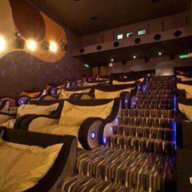 A movie theater just for cuddling! Love this! Wish I knew where it was...