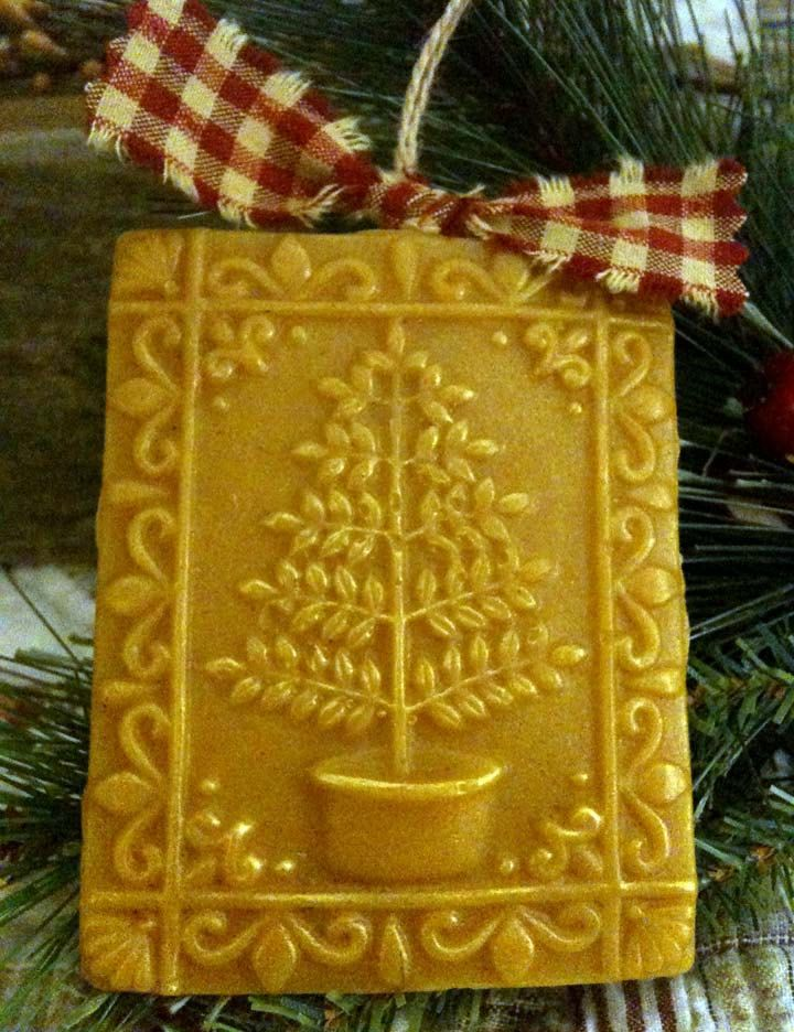 how to make beeswax ornaments with springerle cookie molds