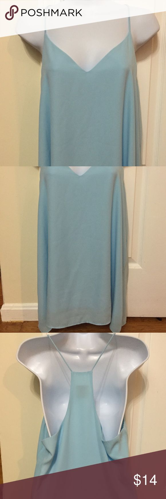 Nymphe Sky Blue Cami Nymphe Sky Blue Cami. Size XL. Deep v-neck. Only worn twice. Nymphe Tops Camisoles