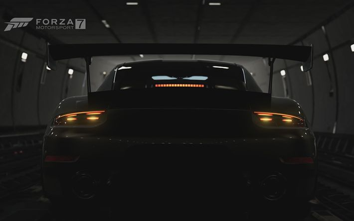 Download imagens 4k, Porsche 911 GT2 RS, 2017 jogos, Forza Motorsport 7, simulador de corrida