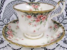 ROYAL ALBERT ROYAL CHOICE BRAEMAR ROSE FLUTED TEA CUP AND SAUCER