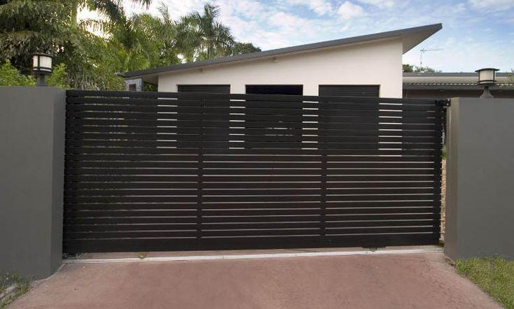 7 mejores im genes sobre portones de acceso en pinterest for Puertas metalicas modernas para exterior