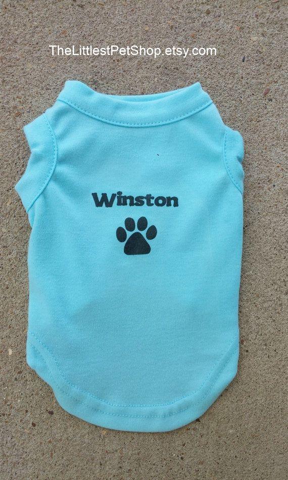 Custom Dog Shirt Personalized Name and Design by TheLittlestPetShop, $13.00 https://www.etsy.com/shop/TheLittlestPetShop