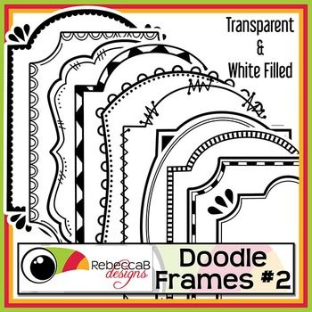 Doodle Frames 2 contains 20 different doodle frames, white filled and transparent of each and approx 7x9 inches in size. There are a total of 40 Doodle Frames in this set and they can be rotated, reduced or increased in size easily. Use these .PNG files to create awesome product covers, worksheets, activities, posters and other teaching resources.