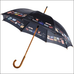 You'll be singing in the rain with this fabulous umbrella featuring Broadway musical logos!