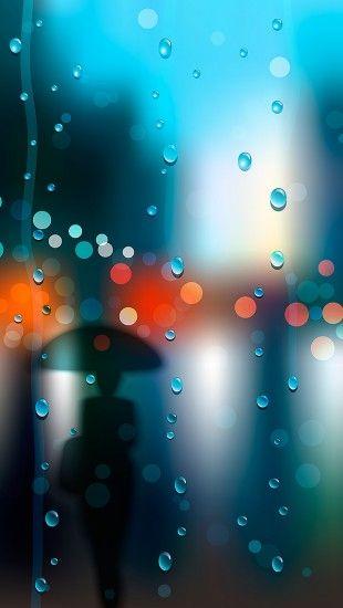 Umbrella Rain - The iPhone Wallpapers