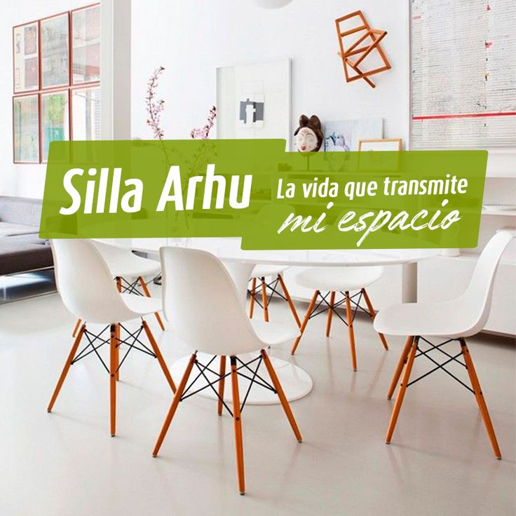 Arhu es una silla pensada para el hogar. 👪 Disfruta pasar los mejores momentos en familia y con tus amigos acompañados con la decoración perfecta y al mejor estilo de Metálicas Cruz 💚