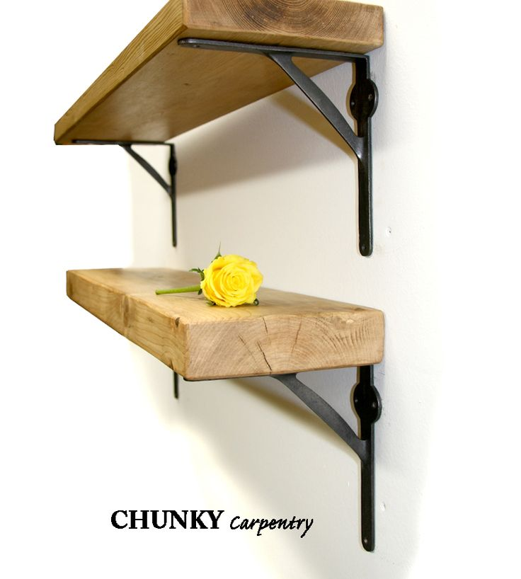 6cm thick shelves industrial style gallows cast iron brackets lots of shelf colour options