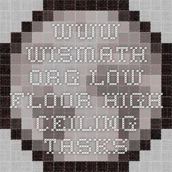 10 best low floor high ceiling math images on pinterest for Floor mathematics