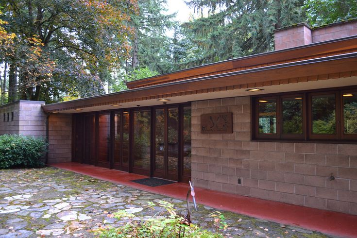 Brandes home sammamish washington 1952 usonian style for Usonian house plans for sale