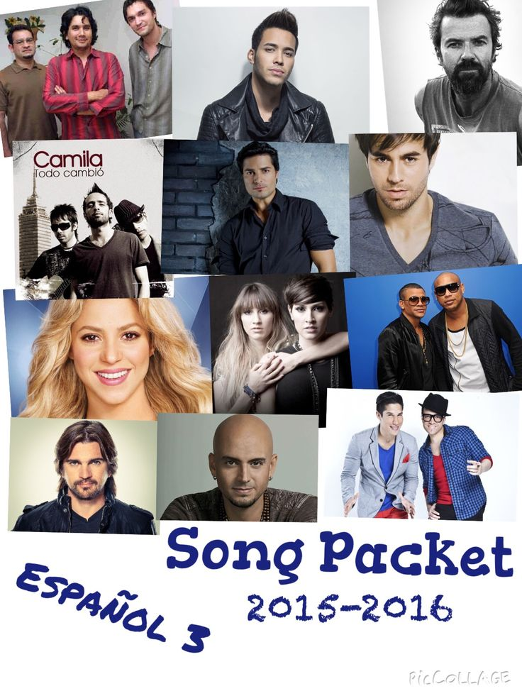 Here is my updated song packet for Spanish 3 for the 2015-2016 school year. Click here to see the Spanish 2/3/4 song packet from last year