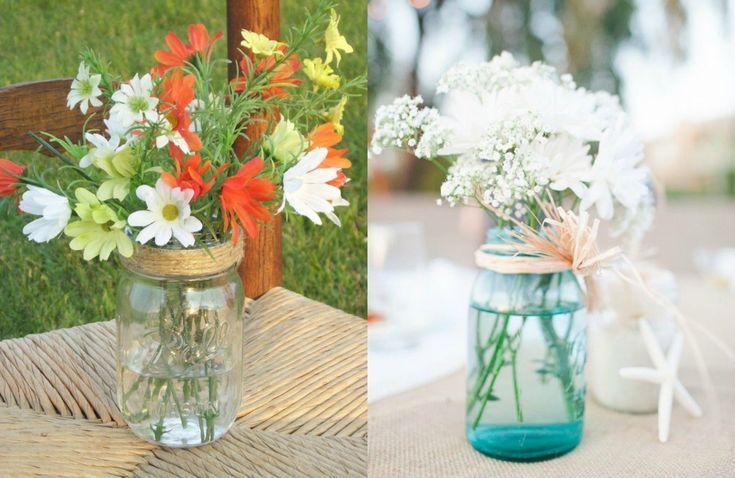Tendencias de decoración: mason jars o tarros de cristal - Los detalles - NUPCIAS Magazine