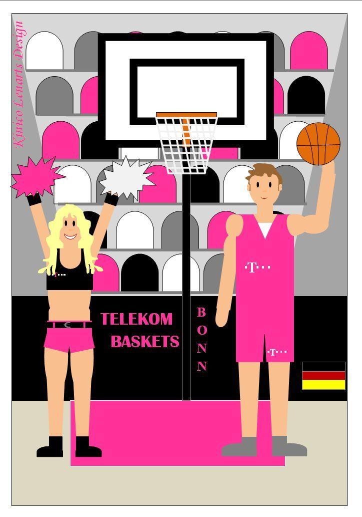 My Art - Sport-Illustration: Telekom Baskets Bonn www.handbaermalt.jimdo.com von Kinico Lenarts Design