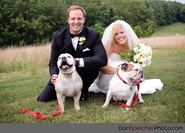 Wedding Photo with Pets! Nemacolin Wedding - Photography by Dan Speicher Photography