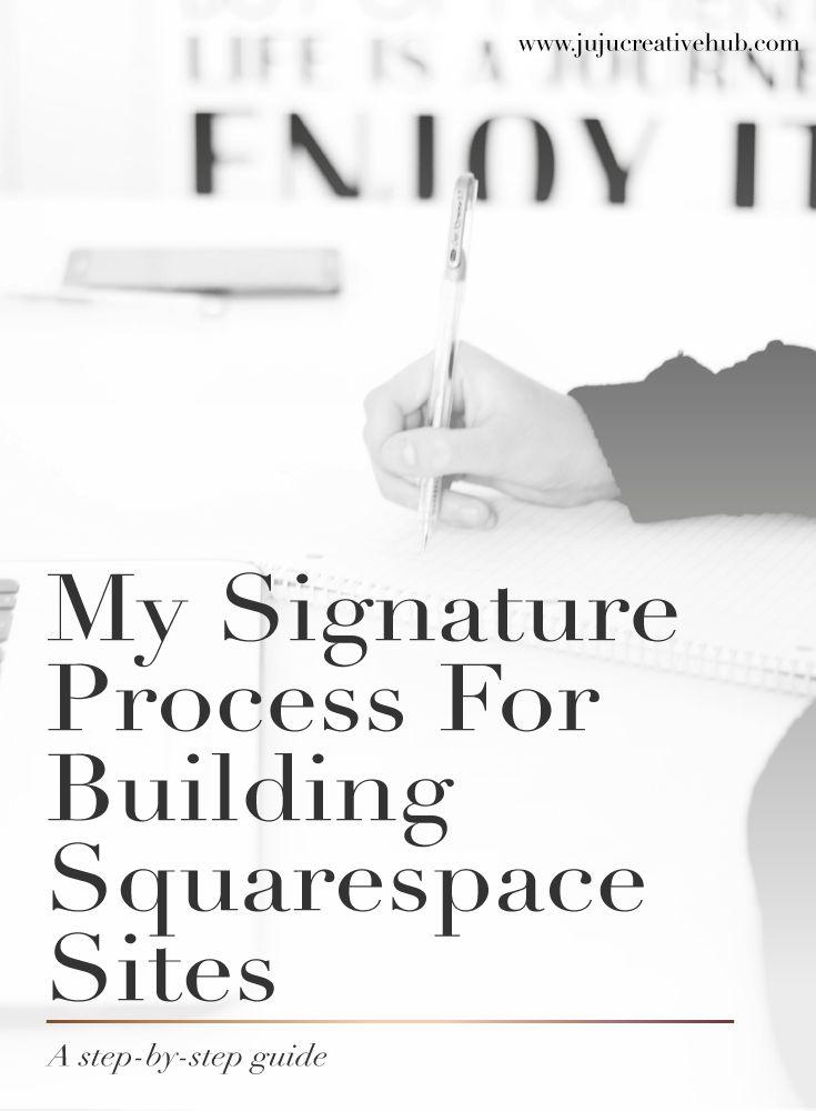 My signature process for building Squarespace sites — JuJu Creative Hub