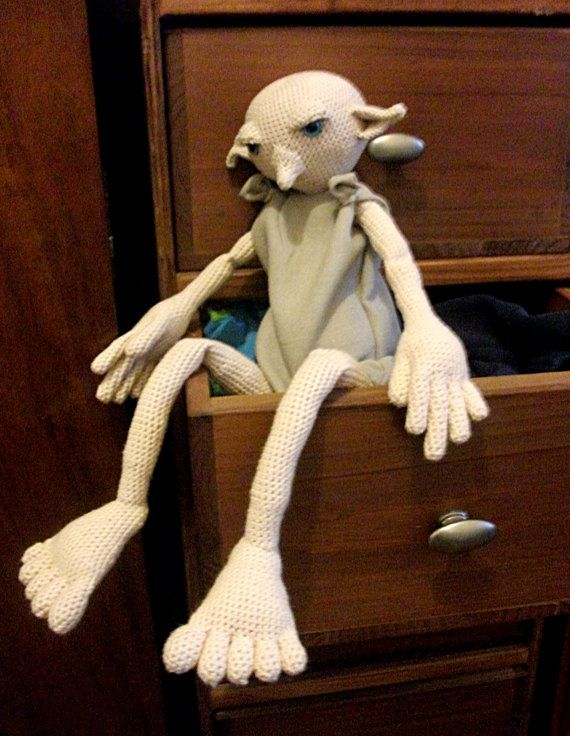 Knitting Pattern For Dobby The House Elf : Dobby the house elf! A crochet pattern. #Harry Potter ...