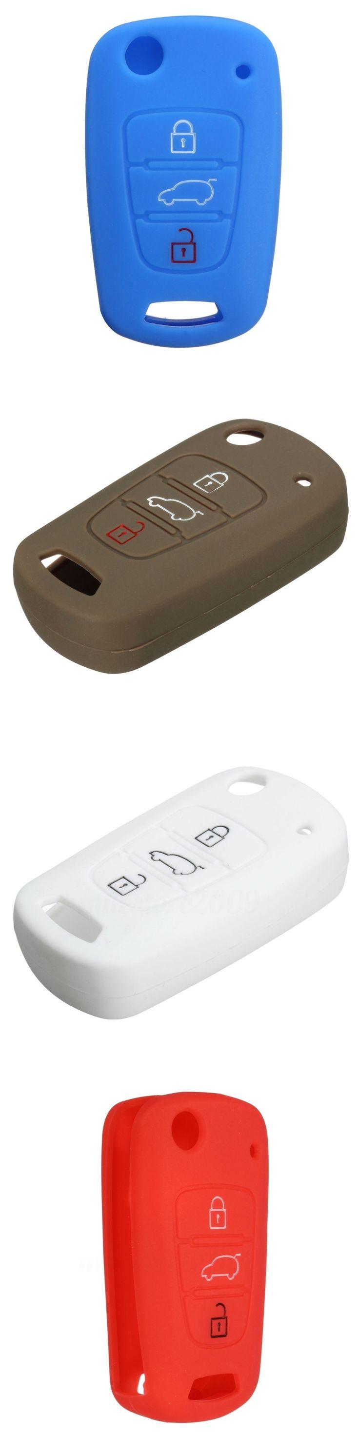 7 Colors Silicone 3 Buttons Remote Flip Key Fob Case For Kia Sportage Soul Rio/Pride/K2 Optima/Magentis/Lotze/K5 Car key Cover