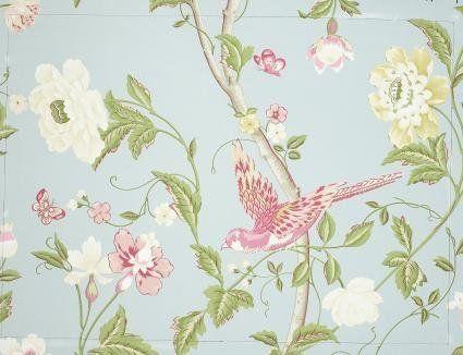 M s de 25 ideas incre bles sobre decoraci n de pared azul - Laura ashley papel pintado ...