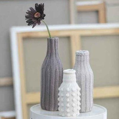 Housses de vase en tricot