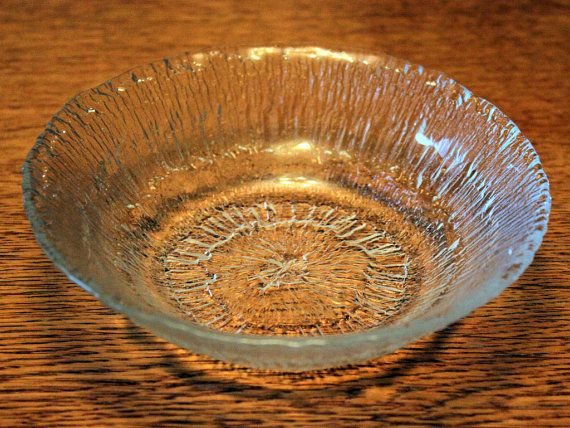 "Iittala Glass ""Solaris"" Desert Bowl by Tapio Wirkkala // Vintage Retro"